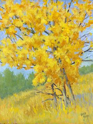 Fall Painting - Autumn Tree by David King