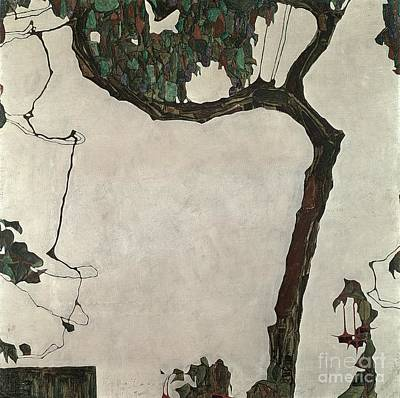 1909 Painting - Autumn Tree by Egon Schiele