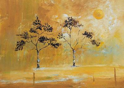 Autumn Trees Original by Alicia Maury