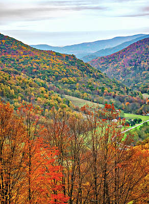 Road Photograph - Autumn Valley by Steve Harrington