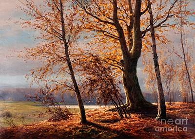 Boris Painting - Autumn View by Celestial Images