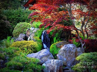 Autumn Landscape Photograph - Autumn Waterfall by Carol Groenen