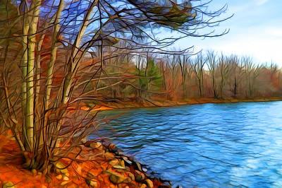 Nature Digital Art - Autumn Whisper 2 by Lilia D