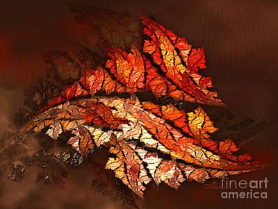 Turbulent Digital Art - Autumn Wind by Jutta Maria Pusl