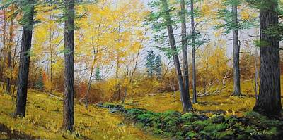 Painting - Autumn Woodland by Ken Ahlering