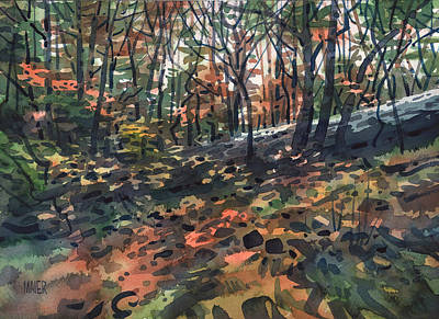 Autumn Woodlands Original by Donald Maier