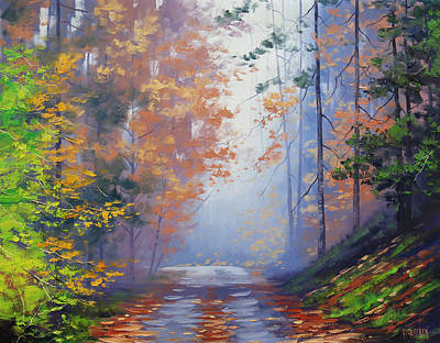 Fiery Painting - Autumn Woods by Graham Gercken
