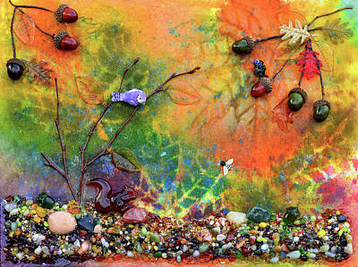 Squirrel Mixed Media - Autumnal Enchantment by Donna Blackhall
