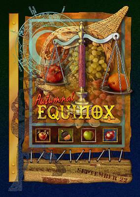 Cornucopia Digital Art - Autumnal Equinox by Ernestine Grindal