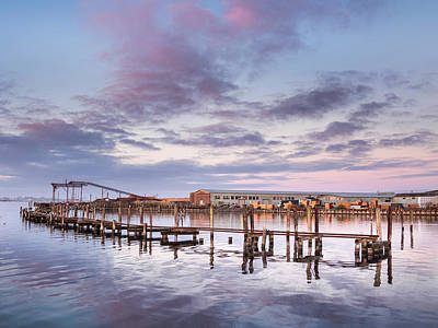 Autumnal Evening Tranquility On Humboldt Bay Print by Greg Nyquist