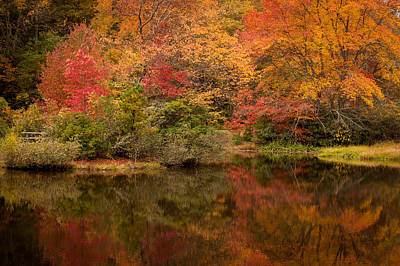 Photograph - Autumns Colorful Reflection North Carolina by Terry DeLuco