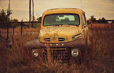 Autumn's Ford In The Field Print by Toni Hopper