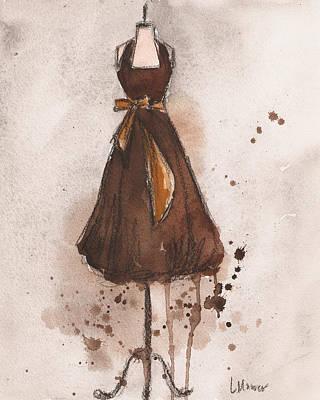 Autumn's Gold Vintage Dress Print by Lauren Maurer