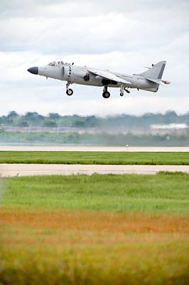 Smoke Photograph - Av-8 Harrier by Sebastian Musial