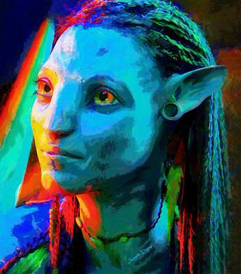 Horror Digital Art - Avatar  - Free Style -  - Da by Leonardo Digenio