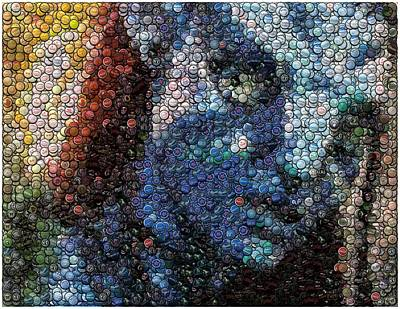 Bottlecaps Digital Art - Avatar Neytiri Bottle Cap Mosaic by Paul Van Scott