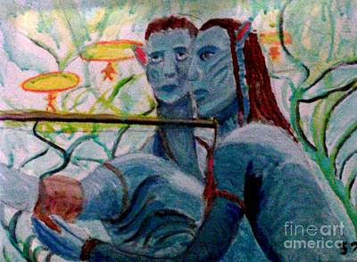 Animation Painting - Avatar Painting by Stanley Morganstein