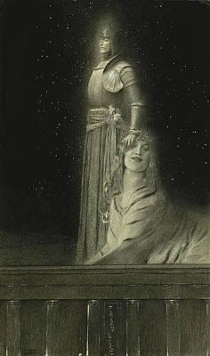 Fernand Khnopff Drawing - Avec Verhaeren. Un Ange by Fernand Khnopff