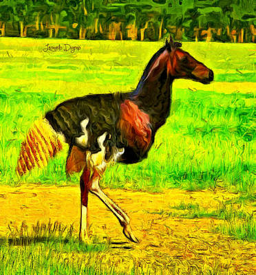 Horse Digital Art - Avehorse - Da by Leonardo Digenio