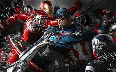 Avengers Collection Print by Marvin Blaine
