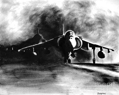 Harrier Painting - Avengers by Stephen Roberson