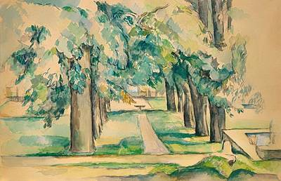 Walkway Drawing - Avenue Of Chestnut Trees At The Jas De Bouffan by Mountain Dreams