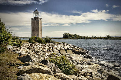 Uconn Photograph - Avery Point Lighthouse by Phyllis Taylor