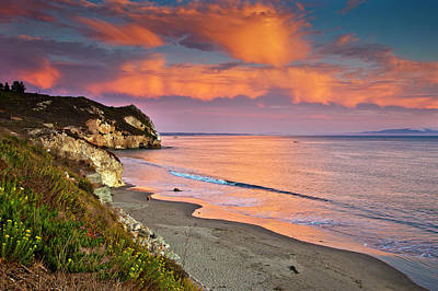 Color Image Photograph - Avila Beach At Sunset by Mimi Ditchie Photography
