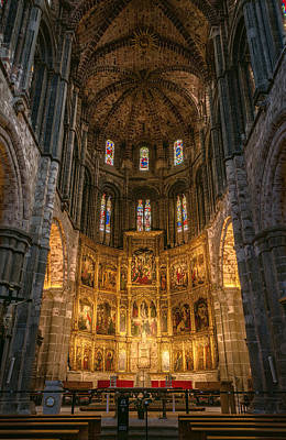 Avila Cathedral Print by Joan Carroll