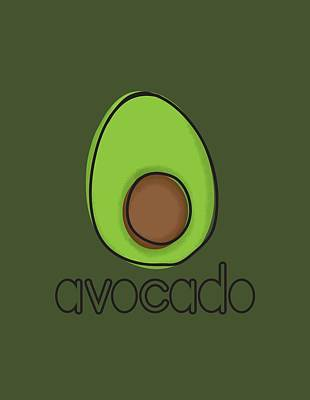Fruit Digital Art - Avocado by Monette Pangan