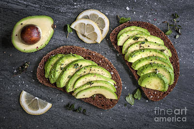 Avocado Sandwich Print by Elena Elisseeva