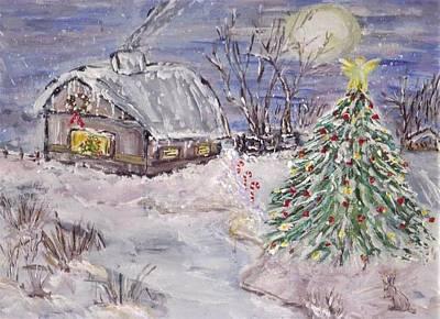 Painting - Awaiting Christmas  by Mary Sedici