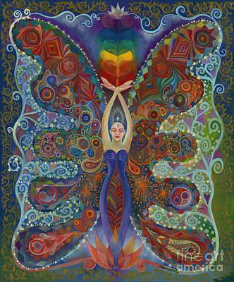 Chakra Painting - Awake Female by Manami Lingerfelt