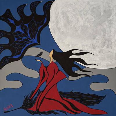Native Painting - Awakening by Krystle Retieffe
