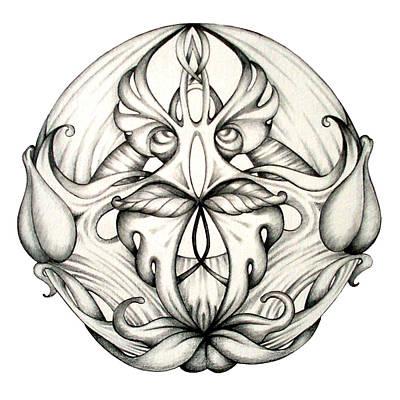Mandala Drawing - Awakening by Shadia Zayed