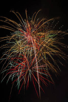 Awesome Amazing Fireworks Print by Garry Gay