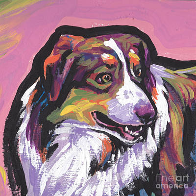 Australian Shepherd Painting - Oh Say Aussie by Lea S
