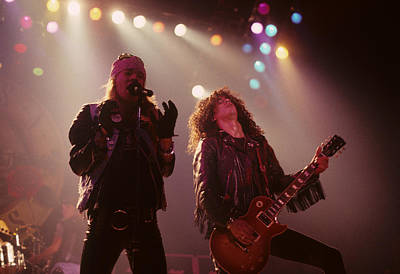 Axl Rose And Slash Print by Rich Fuscia