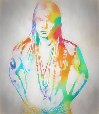 Axl Rose Print by Dan Sproul