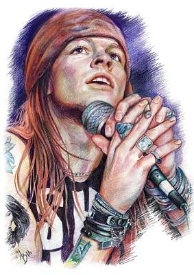 Axl Rose  Print by Inna Volvak