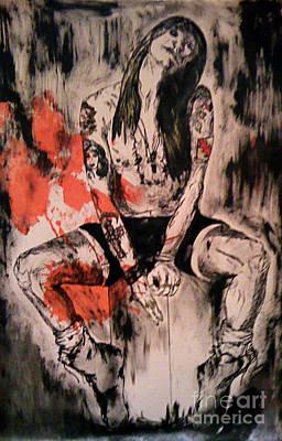 Axl Rose Drawing - Axl Rose by Simonne Mina