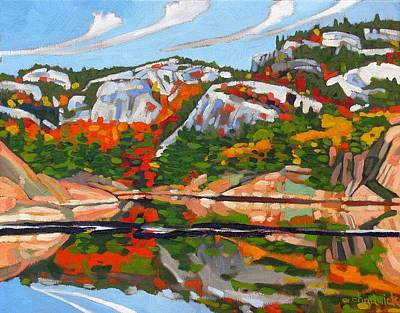 Canoeist Painting - A.y. Jackson Lake by Phil Chadwick