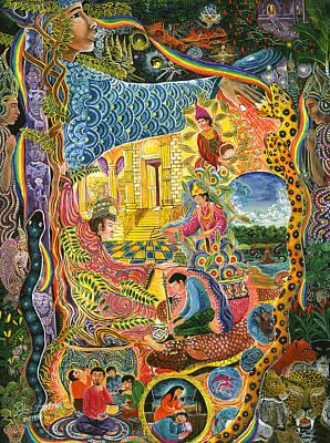 Ayahuasca Chayana Print by Pablo Amaringo