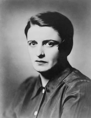 Ayn Rand 1905-1982 Russian Born Print by Everett