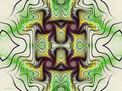 Aztec Art Design Print by Deborah Benoit