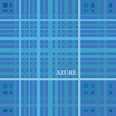 Azure Blue Abstract Print by Frank Tschakert