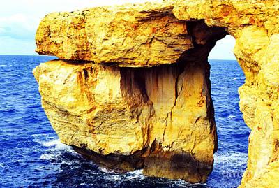 Azure Window Island Of Gozo Print by Thomas R Fletcher