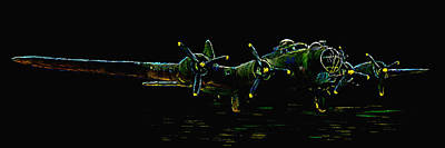 Ww11 Aircraft Painting - B-17 At Rest by Tim Tompkins