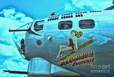 Pin Up Nose Art Photograph - B-17 Aluminum Overcast Pin-up by Allen Beatty