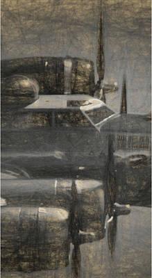 Digital Art - B-17g In Triptych No 2 by Tommy Anderson